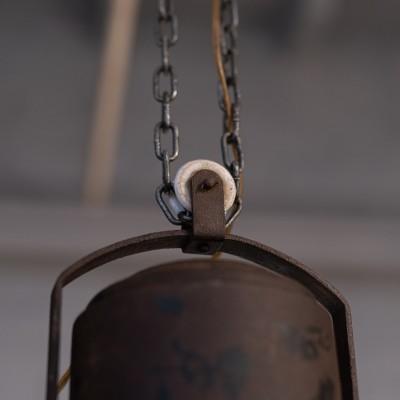 Ancienne suspension industrielle AEG par Peter Behrens 1907
