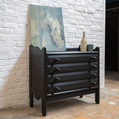 French designer oak chest of drawers.