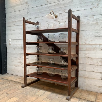 Wooden industrial shelf
