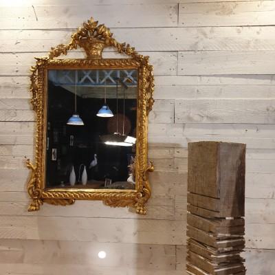 miroir classique feuille d'or 18 ème