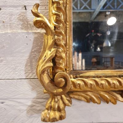 Miroir 18ème à la feuille d'or