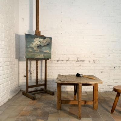 Table basse marbre et bois