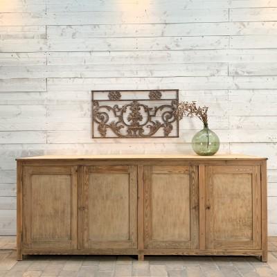 Ancien meuble 4 portes d'atelier en bois
