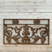 Cast iron grill in French garden