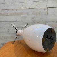 Lampe en céramique et fibre accolay