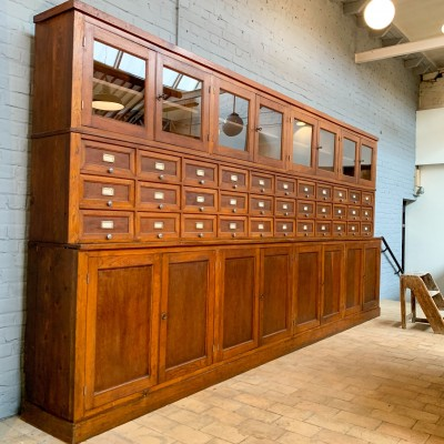Ancien meuble de commerce  quincaillerie