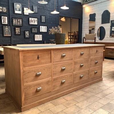Oak shop counter
