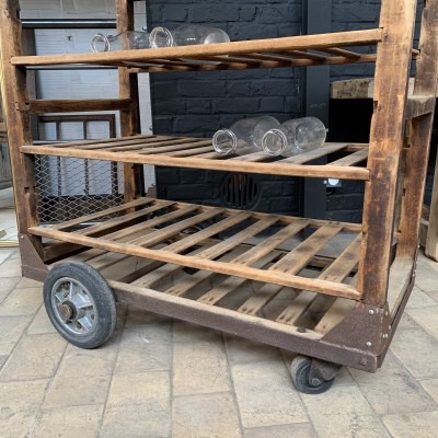 French wooden bakery cart