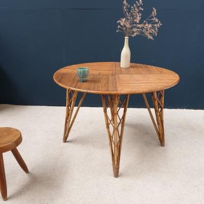 TABLE EN ROTIN VINTAGE