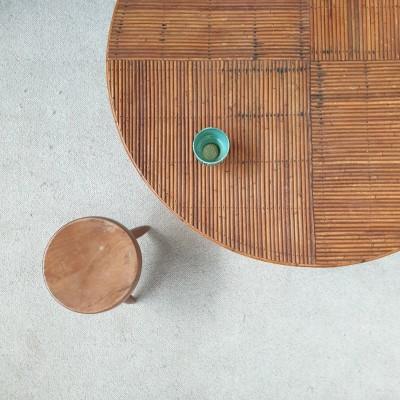 TABLE DE REPAS EN ROTIN