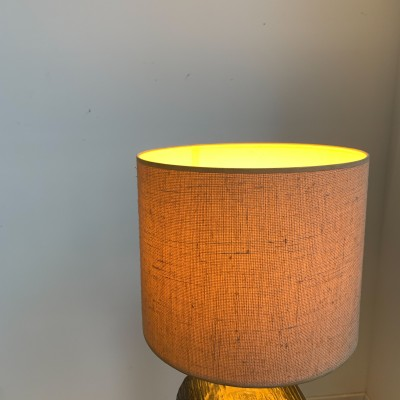 Brutalist ceramic lamp by Emiel Laskaris 1960