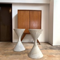 Pair of planters by Willy Guhl