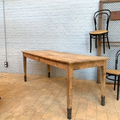 Wooden farm table
