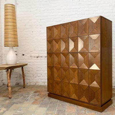 "Brutalist sideboard ""De Coene"" 1970 in oak"