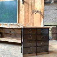 Industrial furniture with metal doors