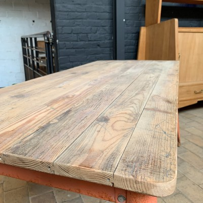 Tolix metal and wood table