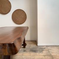 Brutalist table in elm