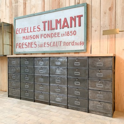 Industrial french furniture with door