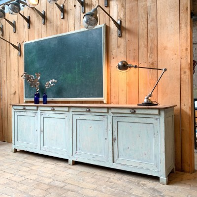 Ancien meuble d'atelier en chêne