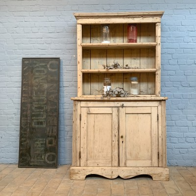 Ancien meuble 2 corps en bois brut