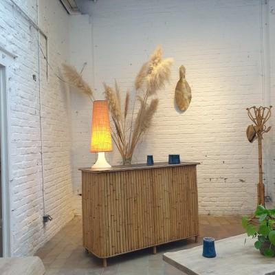 Bar en bambou et rotin