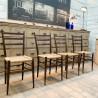 Série de 4 chaises vintage en cordes