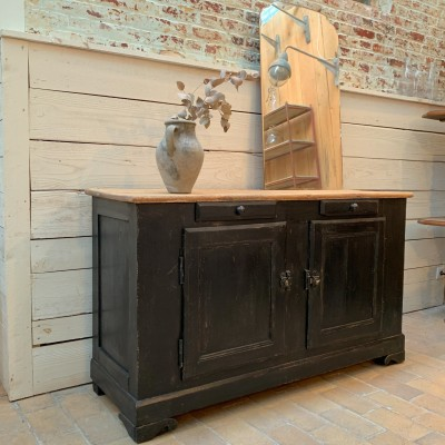French wooden sideboard