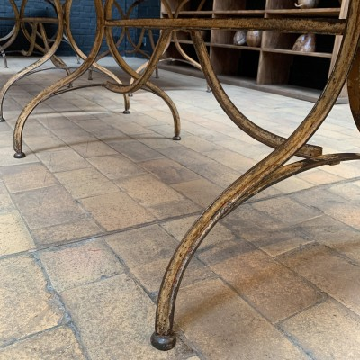 Series of 4 French bistro tables from the 1930s
