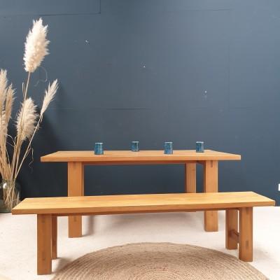 Table Maison REGAIN en orme et son banc