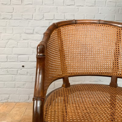 Series of 6 cane armchairs