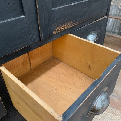 French workshop cabinet with drawers