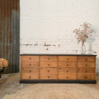 French oak cabinet with drawers