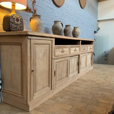 Large pharmacy cabinet in raw oak