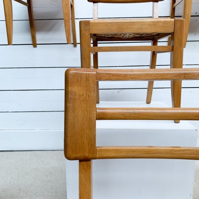 Set of 6 Pierre Cruège 1950 Chairs