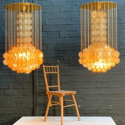 Pair of Italian chandeliers 1950