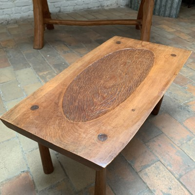 Table basse en bois art populaire 1950