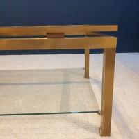 Table basse en laiton de la  Maison JANSEN