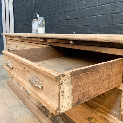 Former haberdashery cabinet with drawers