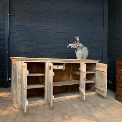 Wooden counter shop