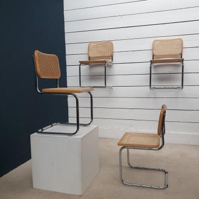 Lot de 4 chaises type B32  Marcel BREUER