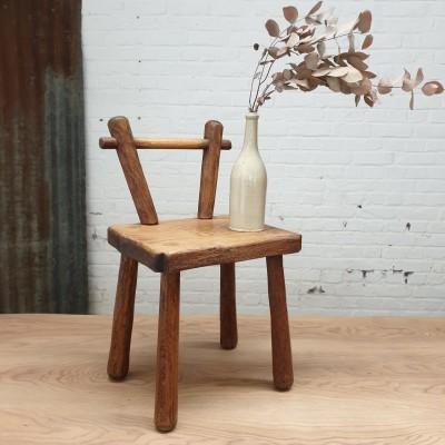Wooden brutalist chair