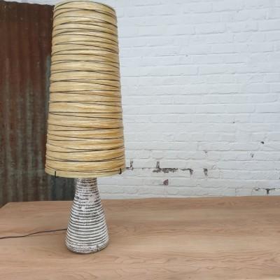 Lampe en céramique et résine 1960