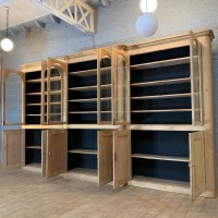 Large wooden bookcase circa 1930