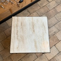 Metal and travertine side table 1970
