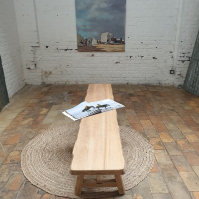 Brutalist elm bench