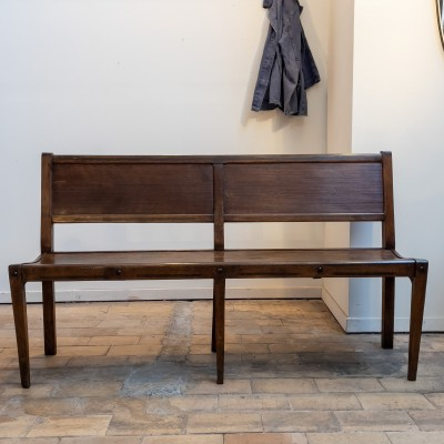 French wooden station bench