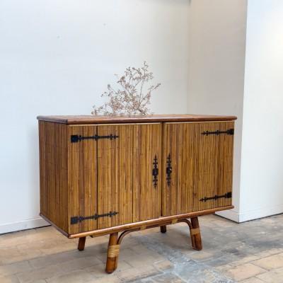 Buffet Vintage par Audoux minet en bambou