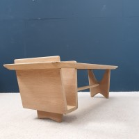 French coffee table by GUILLERME and CHAMBRON.
