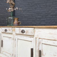 Wooden french florist's furniture