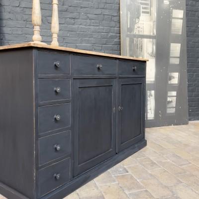 Wooden watchmaker's cabinet